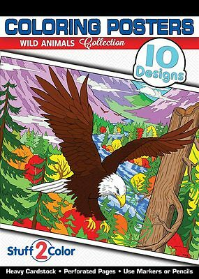 Wild Animals - Adult Coloring Book (10 Designs)