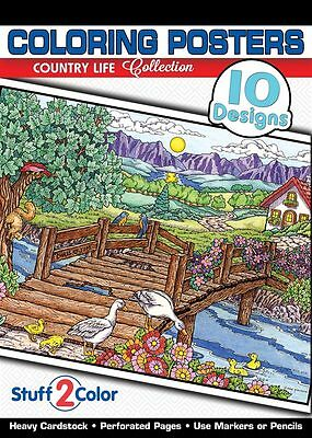Country Life - Adult Coloring Book (10 Designs)