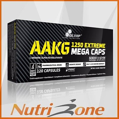 OLIMP AAKG 1250 Extreme Mega Caps Nitric Oxide Booster 120 Caps