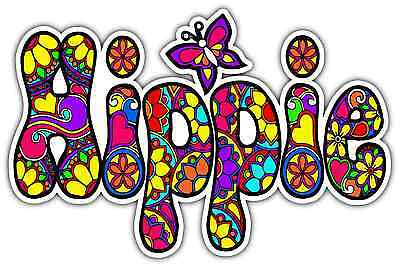 Hippie Peace Love Woodstock Life Car Bumper Vinyl Sticker Decal 5X3.5""