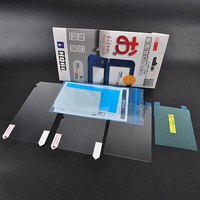 Top Tempered Glass Film & Bottom Screen Protector for NEW Nintendo 3DS LL XL
