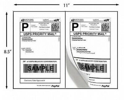 1000 Shipping Labels PayPal Click ship FedEx Self Adhesive Laser Inkjet Printer