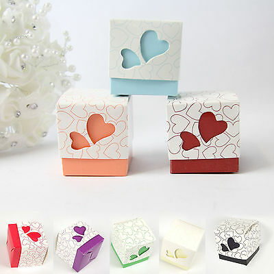 BARGAIN Pack of 50 Heart Favour Boxes!  Wedding Sweet Bags