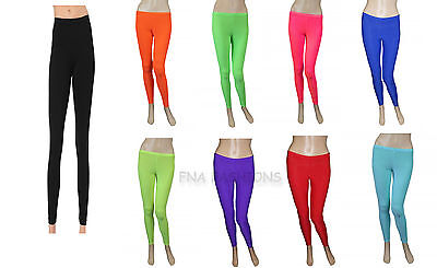 Children's Kids Girls Footless Lycra Neon Colors Leggings Dance Legging 5-12 Yrs