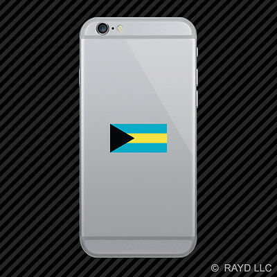 Bahamian Flag Cell Phone Sticker Mobile Bahamas BHS BS