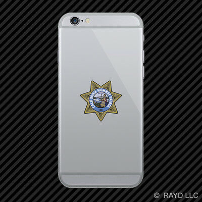 California Highway Patrol Seal Cell Phone Sticker Mobile Die Cut CHP chips