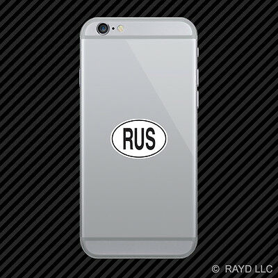 RUS Russia Country Code Oval Cell Phone Sticker Mobile Russian euro