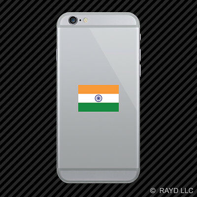 Indian Flag Cell Phone Sticker Mobile India IND IN