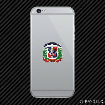 Dominican Coat of Arms Cell Phone Sticker Mobile Dominican Republic flag DOM DO