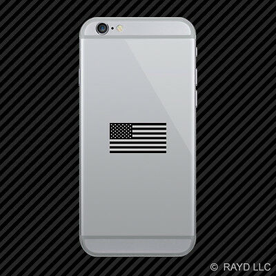 Subdued American Flag Cell Phone Sticker Mobile Die Cut america usa