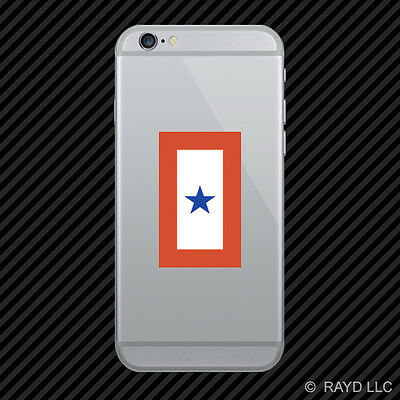Blue Star Service Flag Cell Phone Sticker Mobile Die Cut members banner