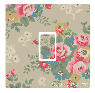 Vintage Floral Light Switch Sticker vinyl skin cover decal