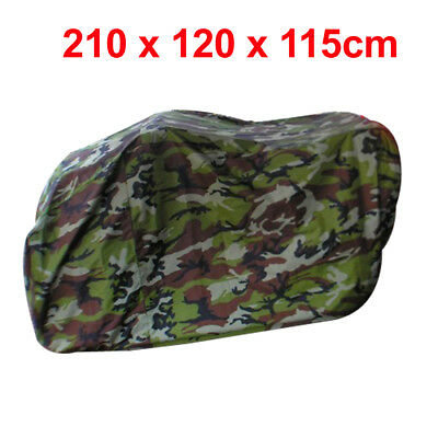 Camouflage Pattern Quad Bike ATV Waterproof Rain Snow Resistant Cover Army Green