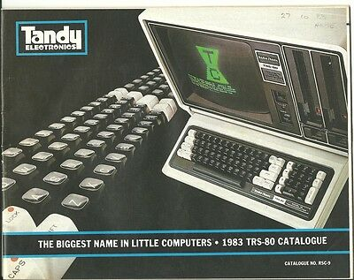TRS-80 1983 Computer Catalogue RSC-9 from Tandy Electronics Australia