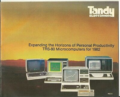 TRS-80 1982 Computer Catalogue RSC-6 from Tandy Electronics Australia