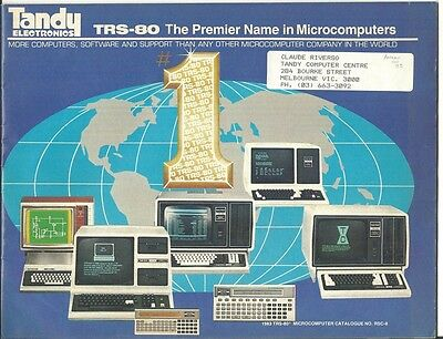 TRS-80 1983 Computer Catalogue RSC-8 from Tandy Electronics Australia