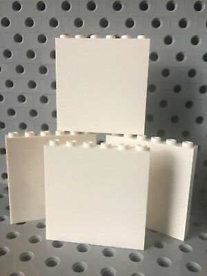 LEGO TAN 1X6X6 Wall With Window Panel Elememt Building New Lot Of 4