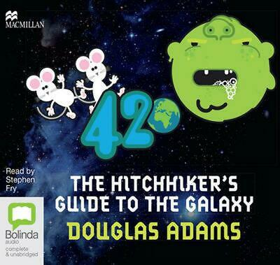The Hitchhiker's Guide to the Galaxy by Douglas Adams Compact Disc Book Free Shi
