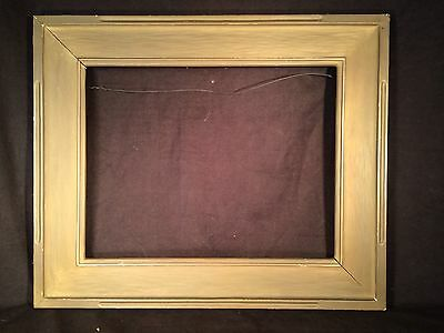 Original Arts & Crafts Newcomb Macklin Hand Carved Gold Picture Frame 14 X 18