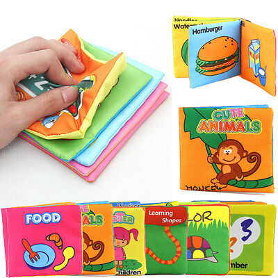 Kid's Baby Intelligence Development Cloth Learn Cognize Book Educational Toy