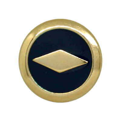 METAL GOLD AND NAVY DIAMOND MOTIF CONTEMPORARY SHANK BUTTONS 23mm Size 36L