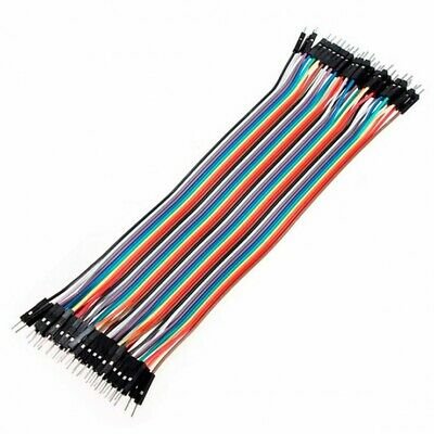 40 Cable Pack Arduino Male Solderless DuPont Jumper Breadboard Wires