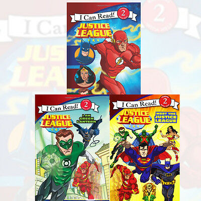 I Can Read Books: Level 2 Collection Justice League 3 Books Set Pack NEW PB