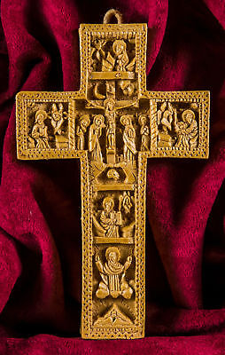 Christian Aromatic Cross Crucifix Jesus Christ made with beeswax mastic incense