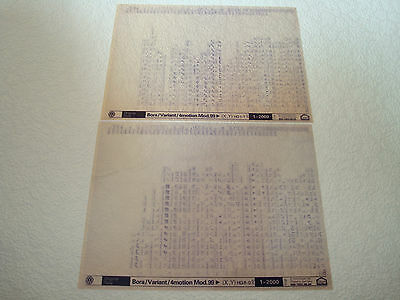 VOLKSWAGEN BORA, VARIANT, 4MOTION MOD.99on PARTS MICROFICHE FULL SET OF 2 - 2000