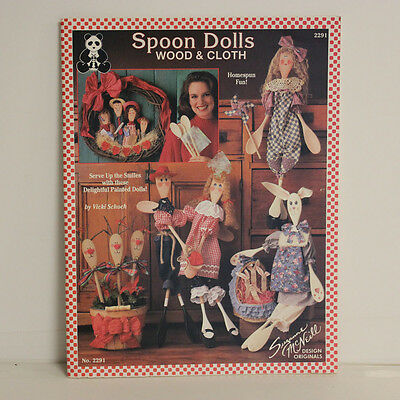 Vintage Spoon Dolls Wood & Cloth Patterns Book, Suzanne McNeill Designs #2291