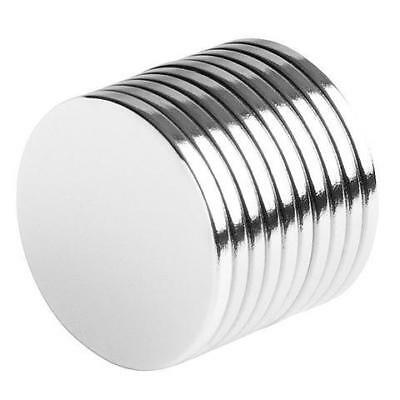 3/4 x 1/16 Inch Strong Neodymium Rare Earth Disc Magnets N48 (10 Pack)