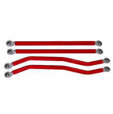 Polaris RZR XP/XP4 1000 - ModQuad Red High Clearance Radius Rods - Set of 4