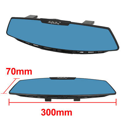 300mm JDM Wide Curve Clip on Auto Car Interior Rear View Mirror Blue