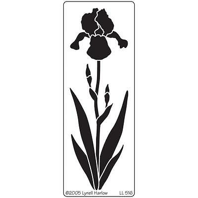 Dreamweaver Bearded Iris Flower Stainless Steel Stencil LL516