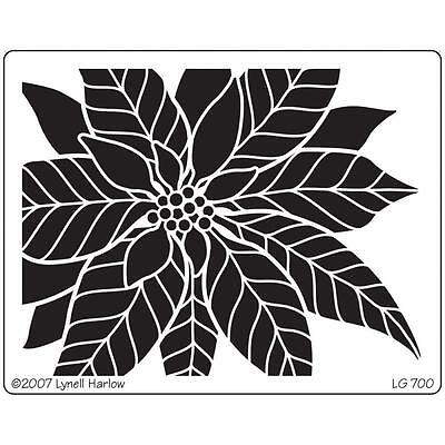Dreamweaver Large Poinsettia Christmas Stencil LG700
