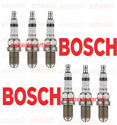 6 PC BMW Spark Plugs Bosch Platinum+4   Factory High Power Set E39/E46-M54