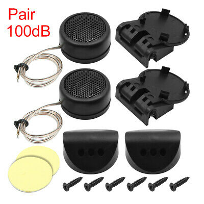 "Auto Car Audio System Loud Speaker Dome Tweeters 1.6"" Dia 300 Watts 100dB 2 Pcs"