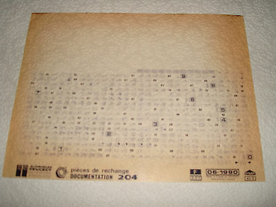 Peugeot 204 Parts Microfiche Full Set Of 1 - Dated June 1990 French