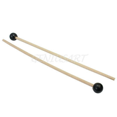 Pair Stick Mallets with Hard Rubber Head for Percussion Xylophones Glockenspiel