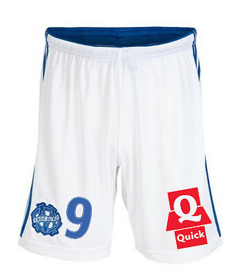 Mens Small OLYMPIQUE MARSEILLE shorts 2014 15 #9 ADIDAS football Adult Home