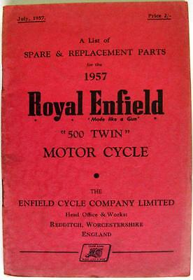 ROYAL ENFIELD 500 Twin - Motorcycle Parts List - Jul 1957 -#631/2½M-757