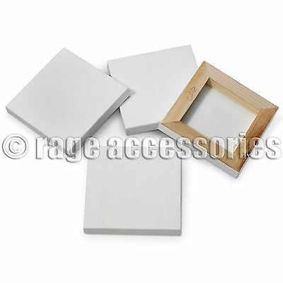 1/4/8 x MINI ARTISTS WHITE CANVAS 7x7cm ART CRAFT STRETCHED FRAMED CANVAS FRAME