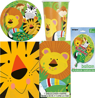 Animal Lion Jungle Birthday Party Pack Jungle Party Table Ware and Decoration