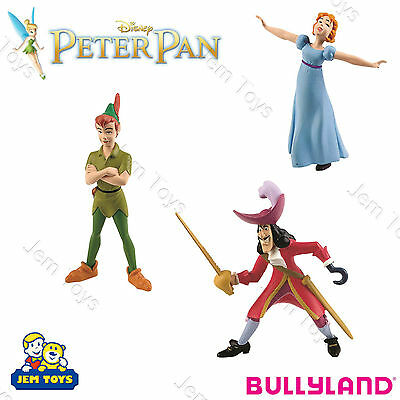 Disney Peter Pan Deluxe Figures Figurines Toy Cake Topper Bullyland Captain Hook