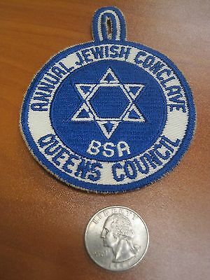 Vintage 50's Boy Scouts of America Annual Jewish Conclave Queens Council Patch