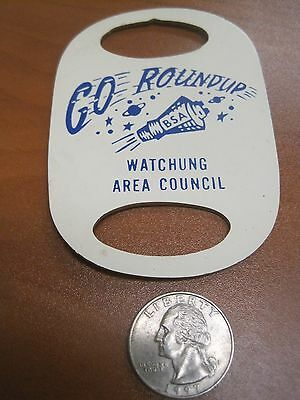 Vintage 50's Boy Scouts of America Go Roundup Watchung Space Neckerchief Slide