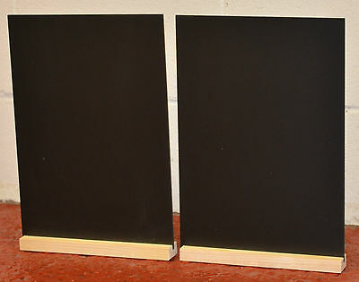 CHALKBOARD BLACKBOARD  TABLE TOP A4 x 2  FOR USE WITH LIQUID CHALK PENS