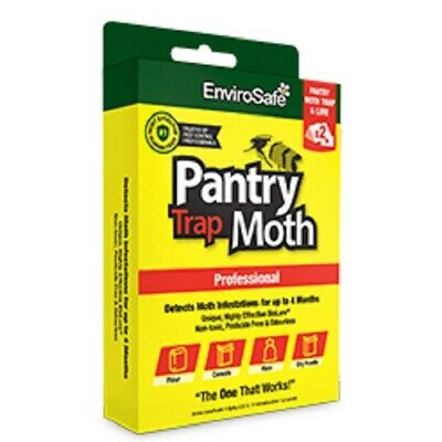ENVIROSAFE Pantry Moth Trap & Lure (x2) Sticky Safe - Lasts 3 Months
