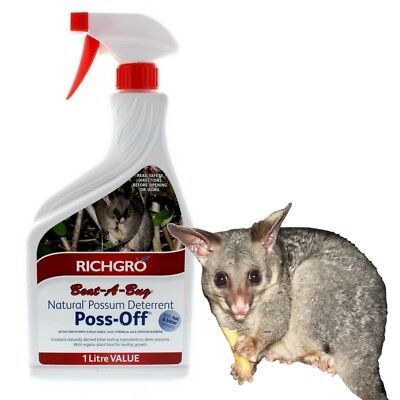 POSS OFF 1 LITRE Possum Deterrent Repeller Spray - Also for Rabbits & Kangaroos