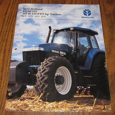 New Holland Ford Genesis 8970 8670 8770 8770 Tractor Sales Brochure Literature